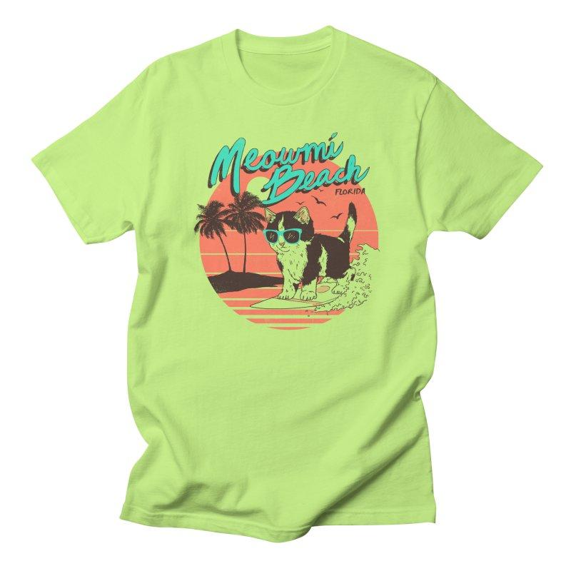 Meowmi Beach Men's T-Shirt by hillarywhiterabbit's Artist Shop