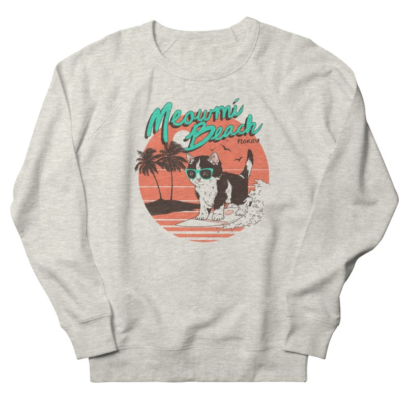 Meowmi Beach Men's Sweatshirt by hillarywhiterabbit's Artist Shop