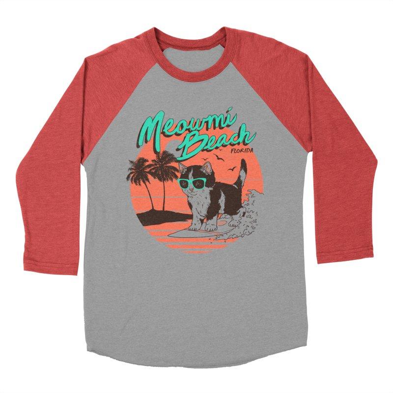Meowmi Beach Women's Baseball Triblend T-Shirt by hillarywhiterabbit's Artist Shop