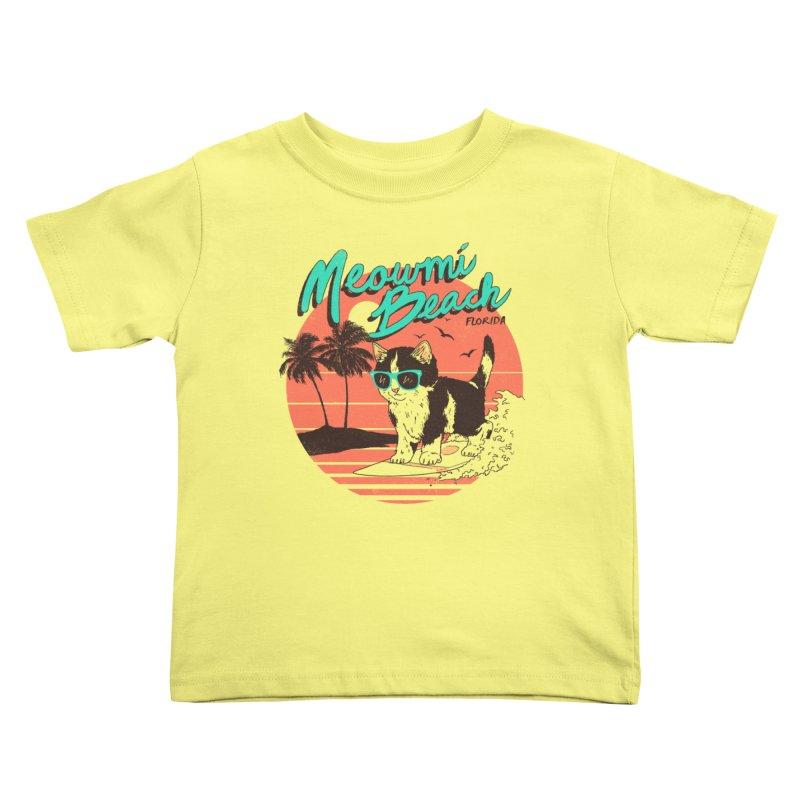 Meowmi Beach Kids Toddler T-Shirt by hillarywhiterabbit's Artist Shop