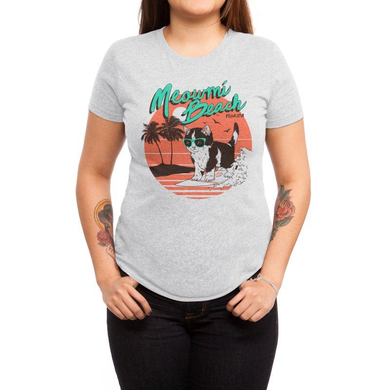 Meowmi Beach Women's T-Shirt by Hillary White Rabbit