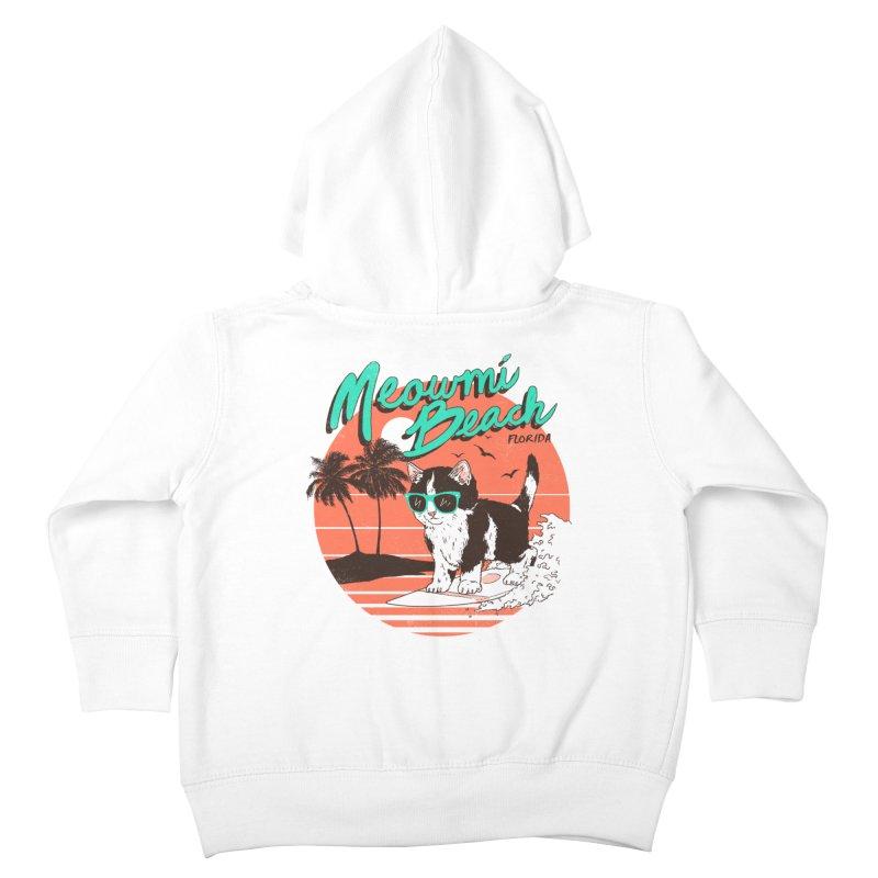 Meowmi Beach Kids Toddler Zip-Up Hoody by hillarywhiterabbit's Artist Shop
