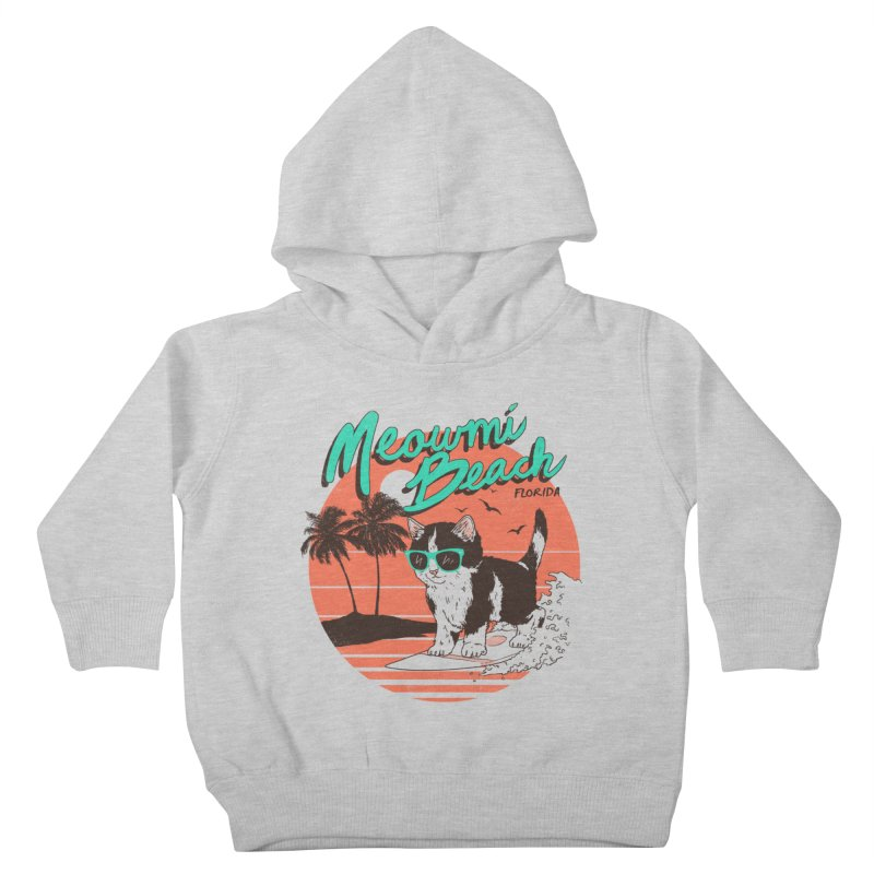 Meowmi Beach Kids Toddler Pullover Hoody by hillarywhiterabbit's Artist Shop