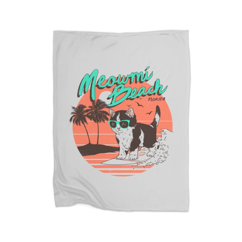 Meowmi Beach Home Blanket by hillarywhiterabbit's Artist Shop