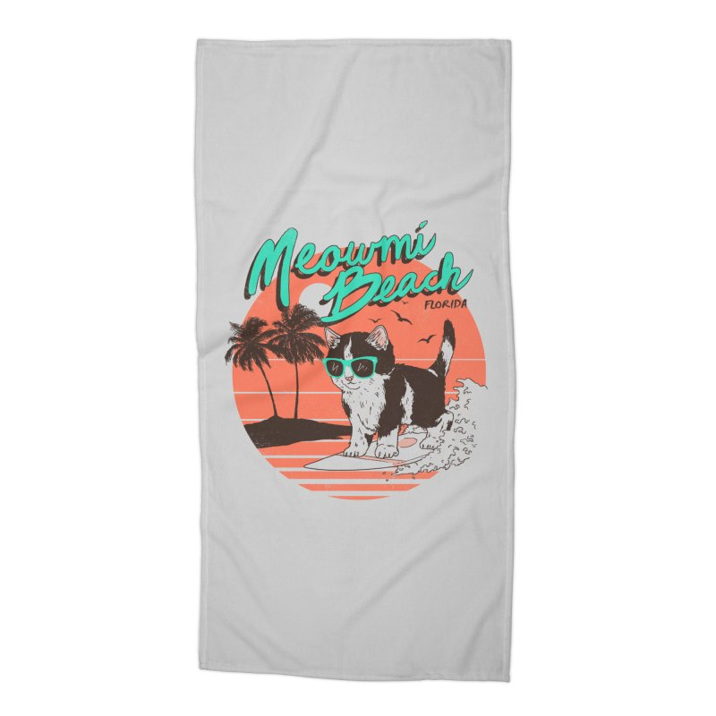 Meowmi Beach Accessories Beach Towel by hillarywhiterabbit's Artist Shop