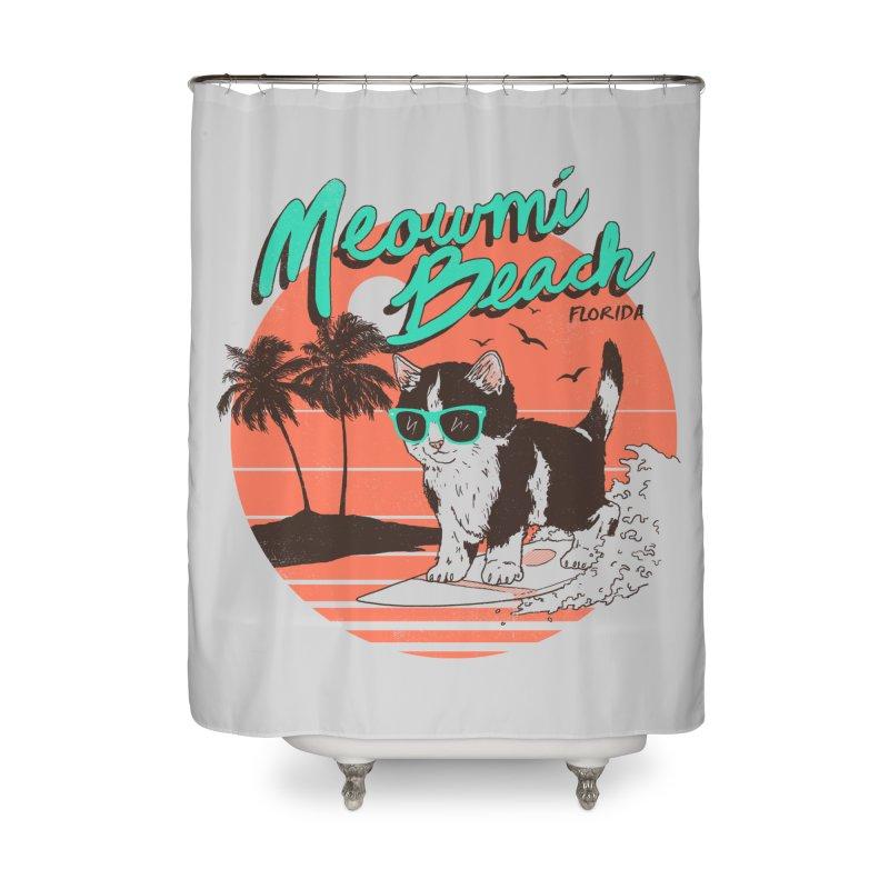 Meowmi Beach Home Shower Curtain by hillarywhiterabbit's Artist Shop