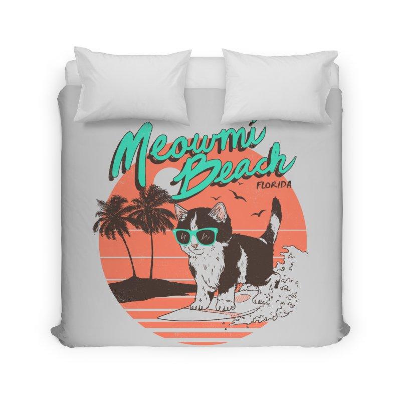 Meowmi Beach Home Duvet by hillarywhiterabbit's Artist Shop