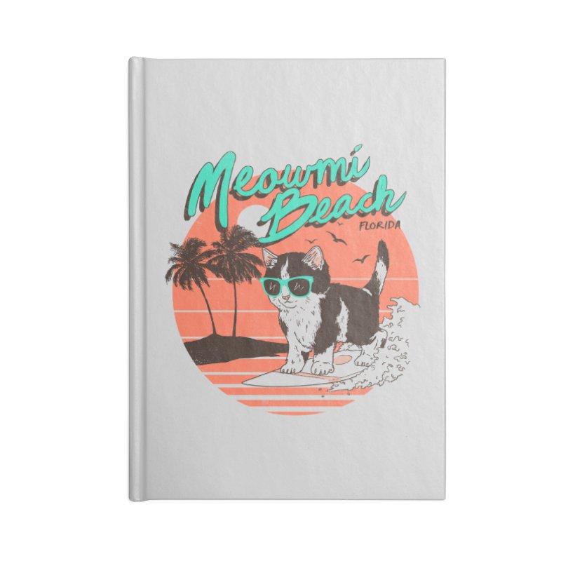 Meowmi Beach Accessories Notebook by hillarywhiterabbit's Artist Shop