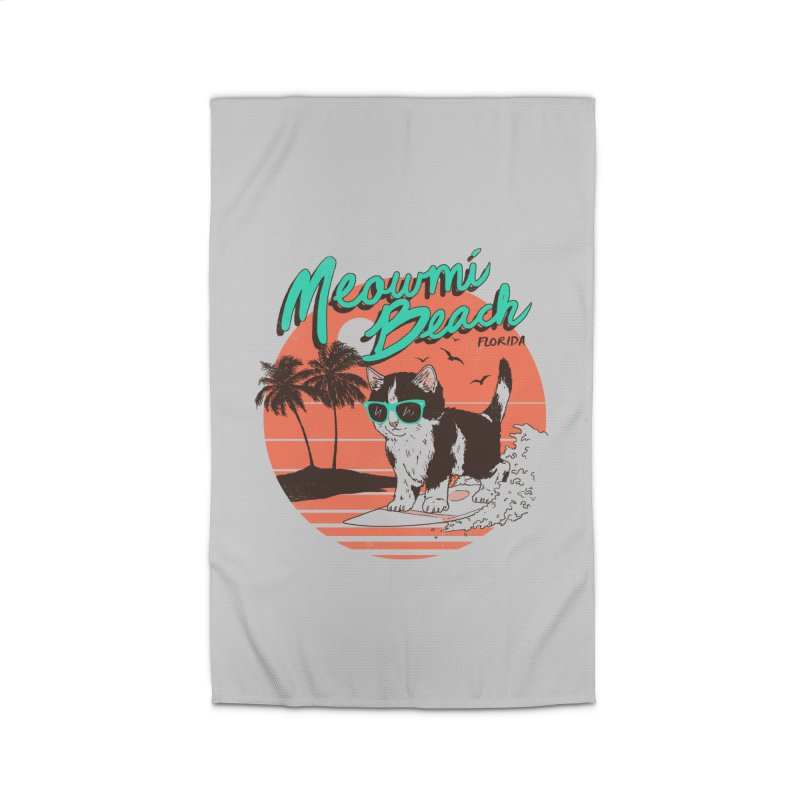 Meowmi Beach Home Rug by hillarywhiterabbit's Artist Shop
