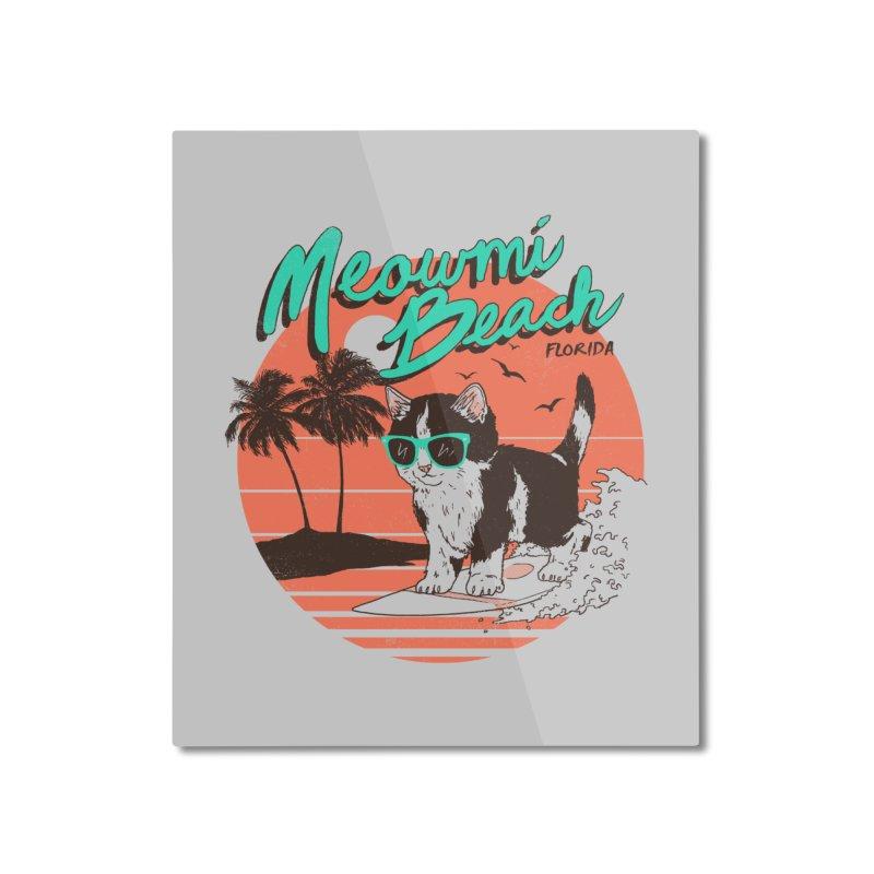 Meowmi Beach Home Mounted Aluminum Print by hillarywhiterabbit's Artist Shop