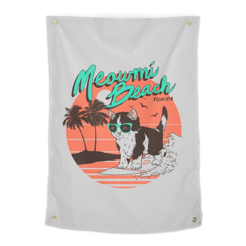 Meowmi Beach Home Tapestry by hillarywhiterabbit's Artist Shop