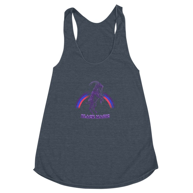 Black Magic Women's Racerback Triblend Tank by hillarywhiterabbit's Artist Shop