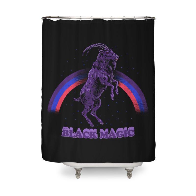 Black Magic Home Shower Curtain by hillarywhiterabbit's Artist Shop