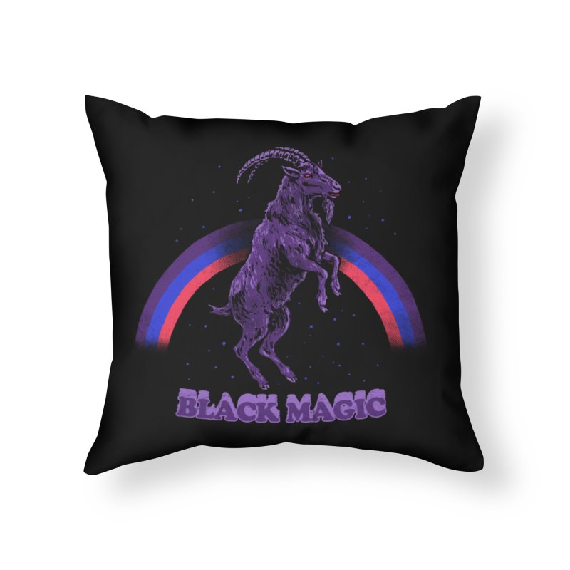 Black Magic Home Throw Pillow by hillarywhiterabbit's Artist Shop