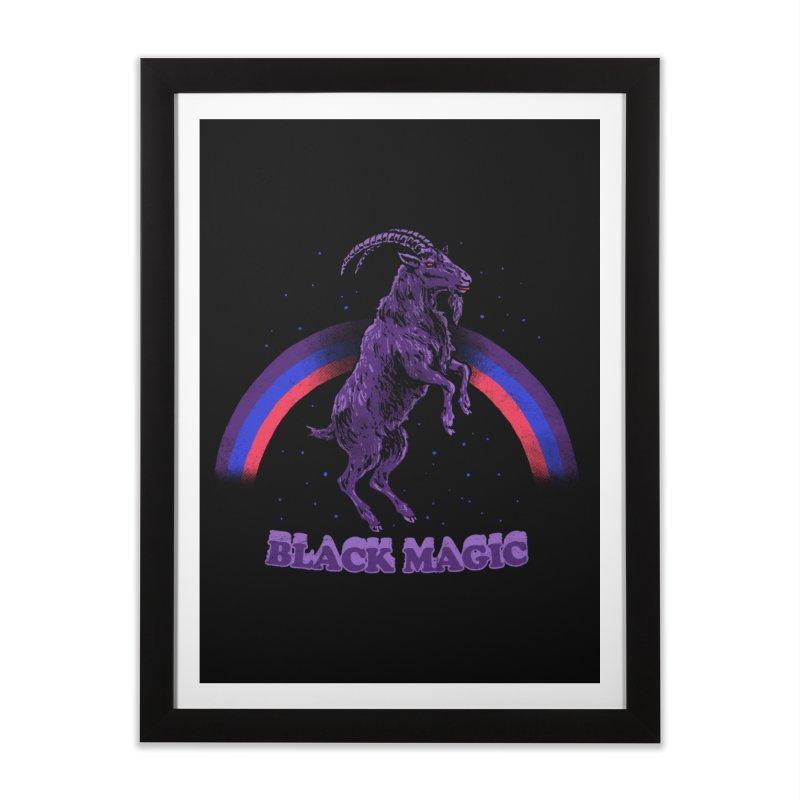 Black Magic Home Framed Fine Art Print by hillarywhiterabbit's Artist Shop