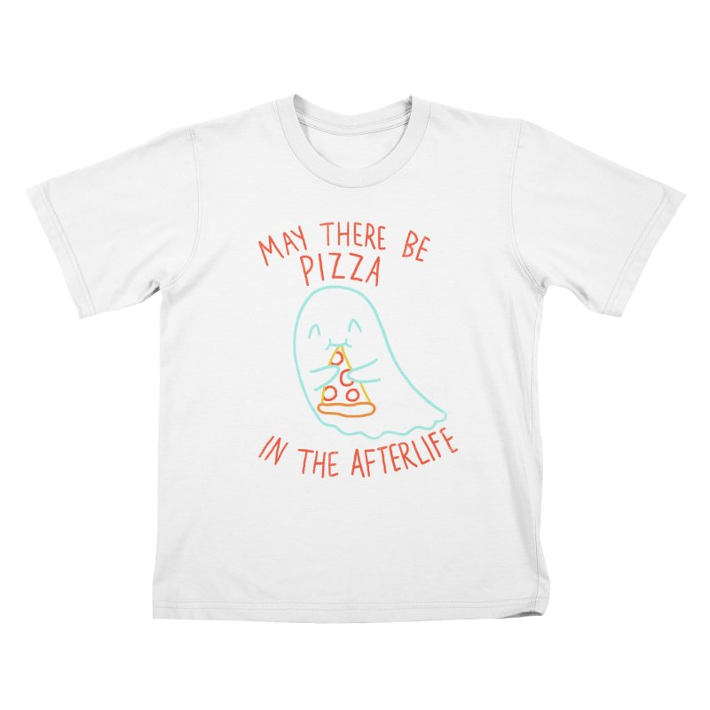 Pizza In The Afterlife Kids T-Shirt by hillarywhiterabbit's Artist Shop