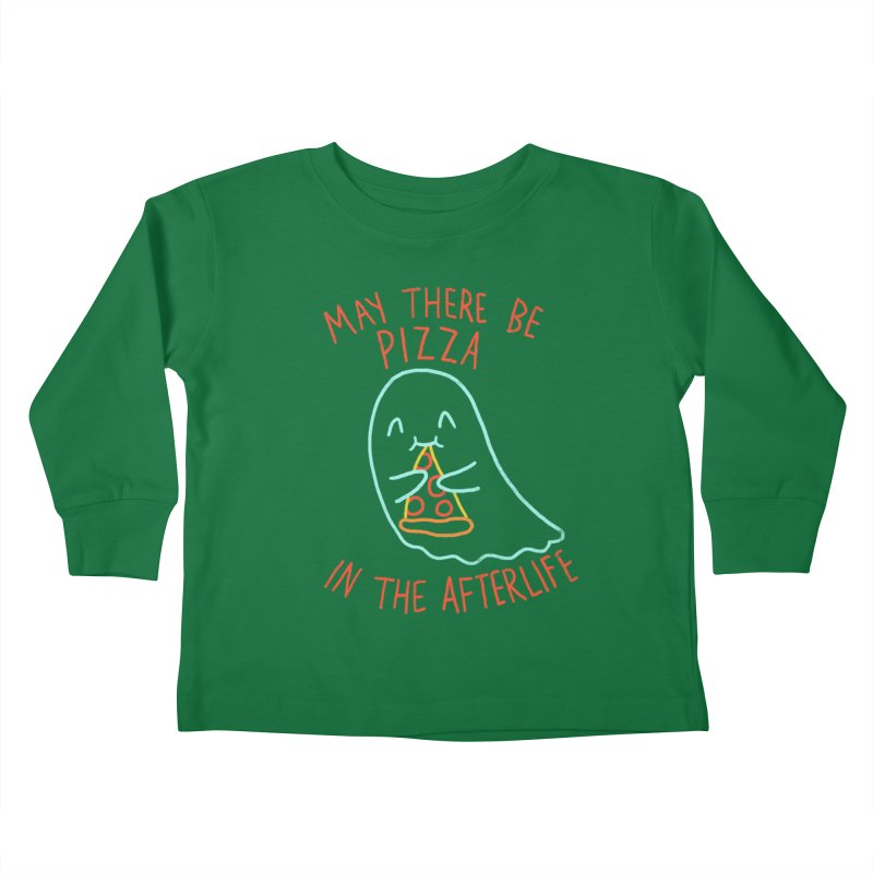 Pizza In The Afterlife Kids Toddler Longsleeve T-Shirt by hillarywhiterabbit's Artist Shop