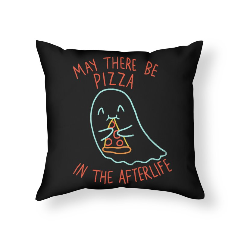 Pizza In The Afterlife Home Throw Pillow by hillarywhiterabbit's Artist Shop