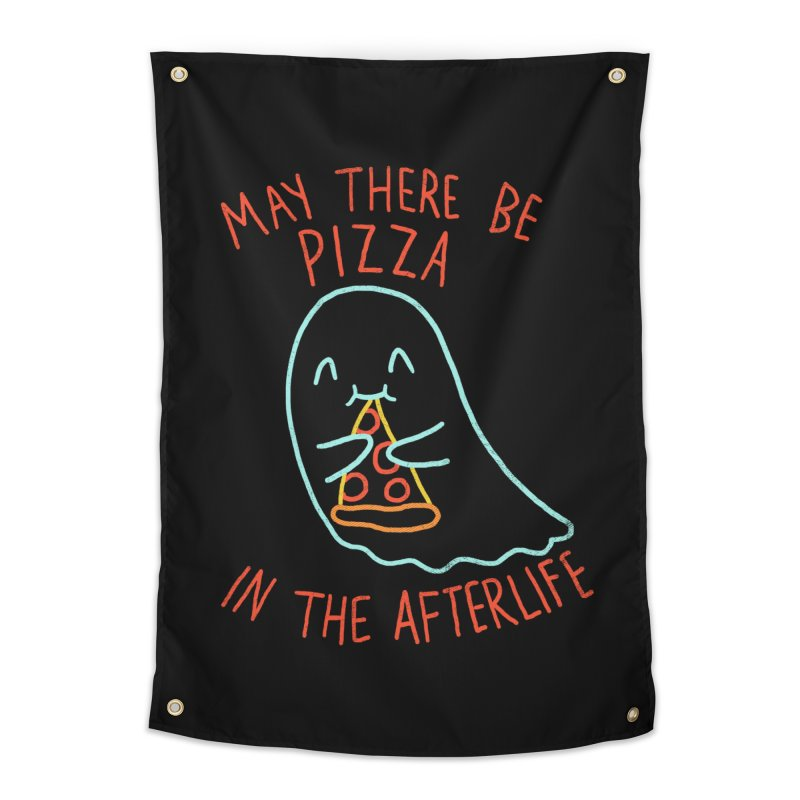 Pizza In The Afterlife Home Tapestry by hillarywhiterabbit's Artist Shop