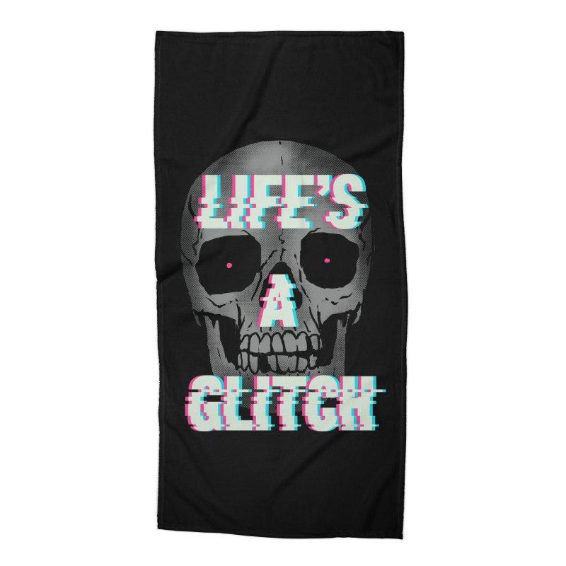 Life's A Glitch Accessories Beach Towel by hillarywhiterabbit's Artist Shop