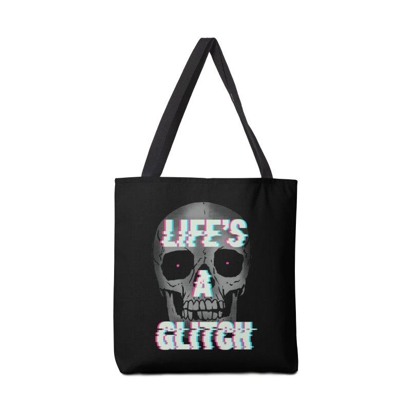 Life's A Glitch Accessories Bag by hillarywhiterabbit's Artist Shop