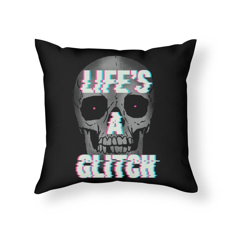 Life's A Glitch Home Throw Pillow by hillarywhiterabbit's Artist Shop