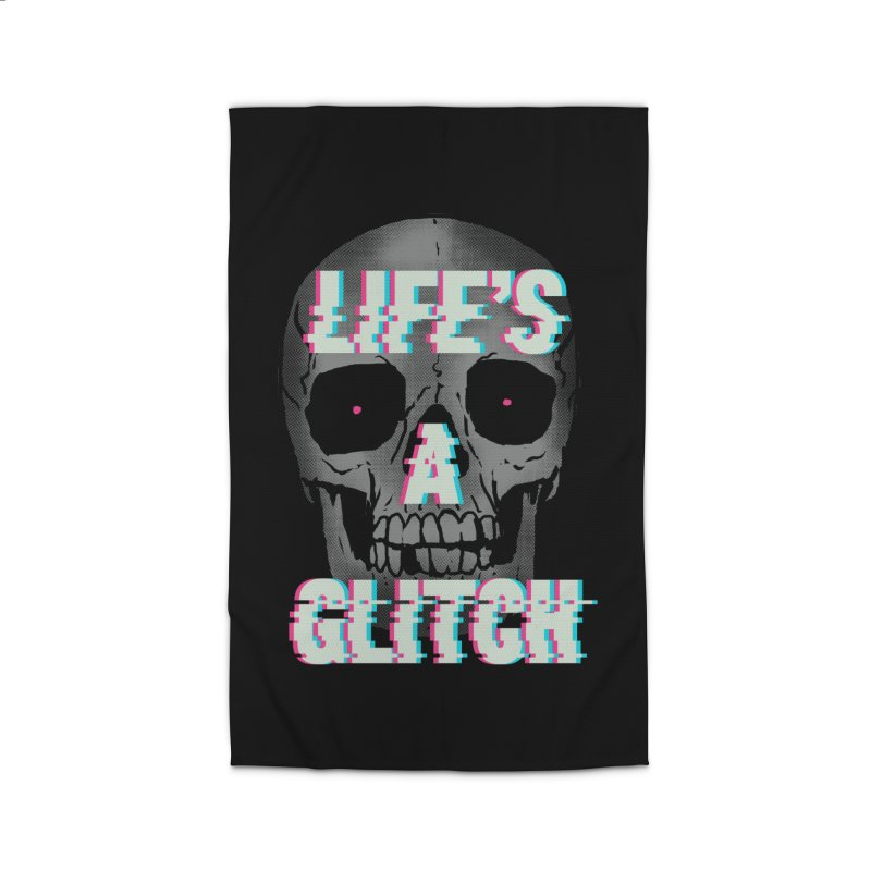 Life's A Glitch Home Rug by hillarywhiterabbit's Artist Shop
