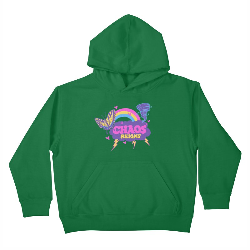 Chaos Kids Pullover Hoody by hillarywhiterabbit's Artist Shop