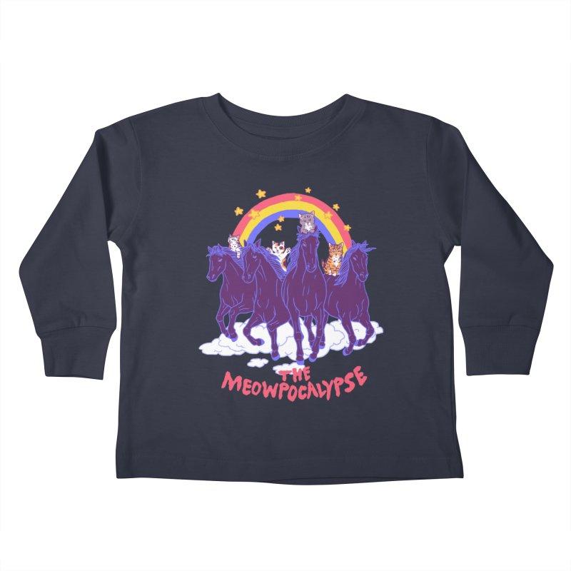 Four Horsemittens Of The Meowpocalypse Kids Toddler Longsleeve T-Shirt by hillarywhiterabbit's Artist Shop