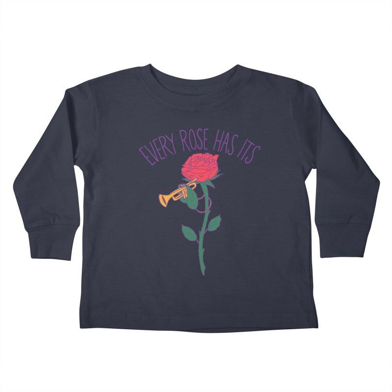Every Rose Has Its Horn Kids Toddler Longsleeve T-Shirt by hillarywhiterabbit's Artist Shop
