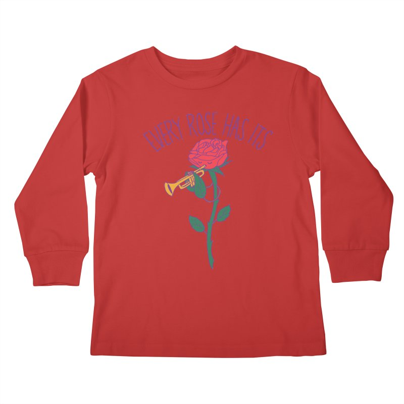 Every Rose Has Its Horn Kids Longsleeve T-Shirt by hillarywhiterabbit's Artist Shop