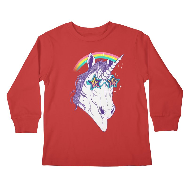 Be You Kids Longsleeve T-Shirt by hillarywhiterabbit's Artist Shop