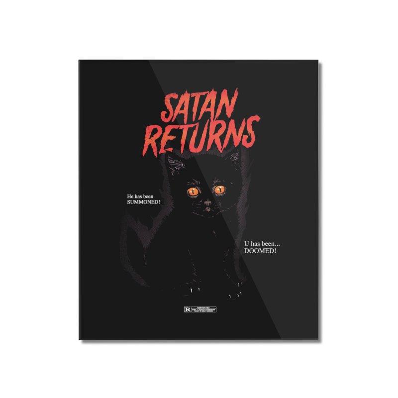 Satan Returns Home Mounted Acrylic Print by hillarywhiterabbit's Artist Shop