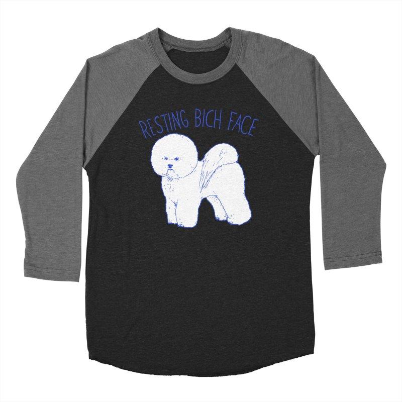 Resting Bich Face Women's Baseball Triblend T-Shirt by hillarywhiterabbit's Artist Shop