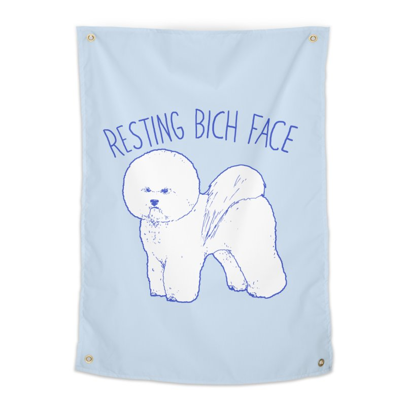 Resting Bich Face Home Tapestry by hillarywhiterabbit's Artist Shop