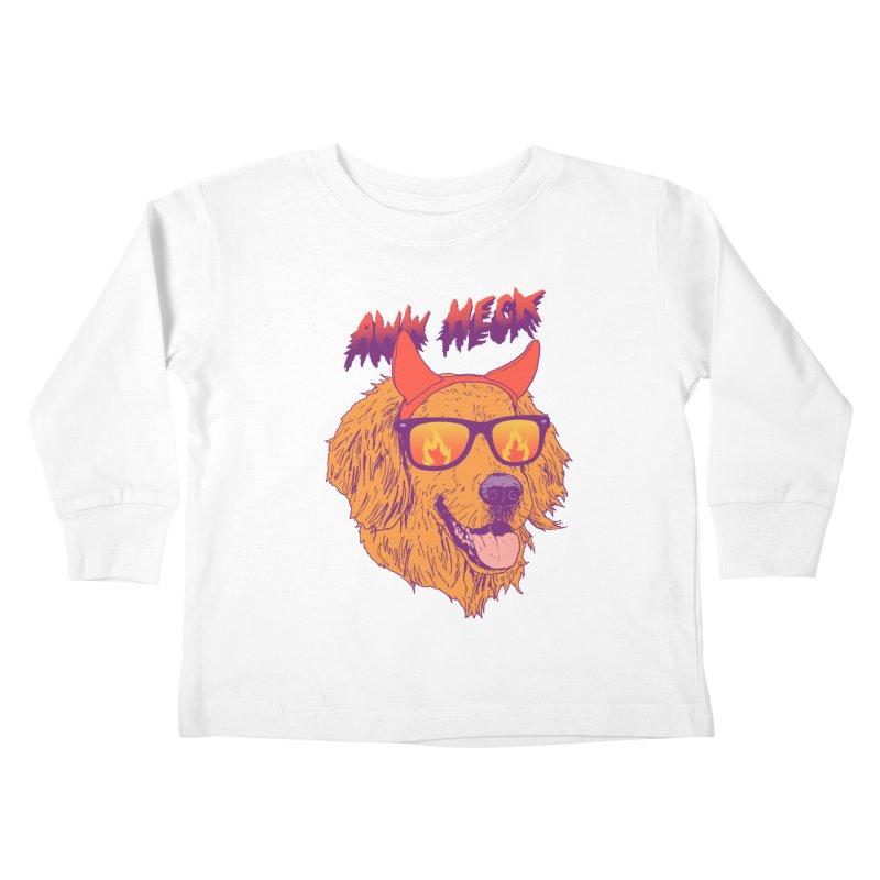 Aww Heck Kids Toddler Longsleeve T-Shirt by hillarywhiterabbit's Artist Shop