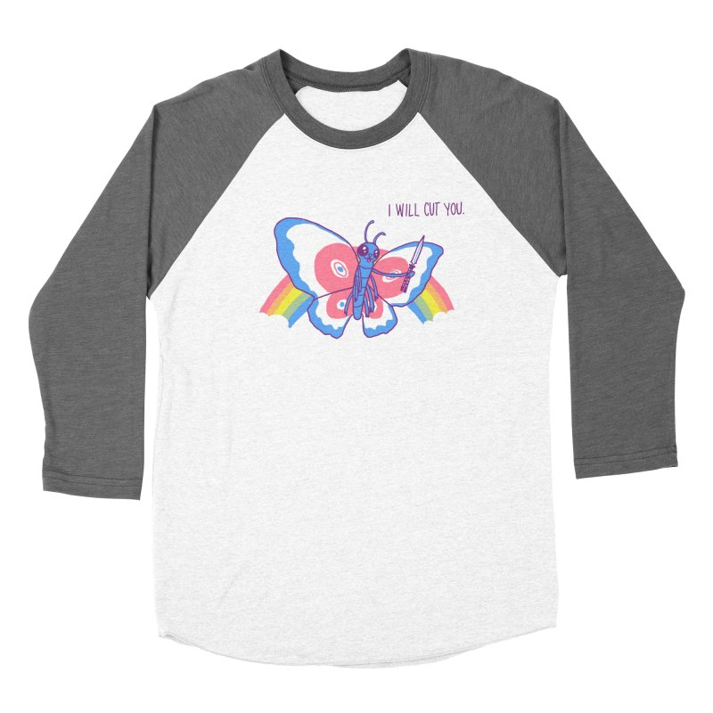 Butterfly Knife Men's Baseball Triblend T-Shirt by hillarywhiterabbit's Artist Shop