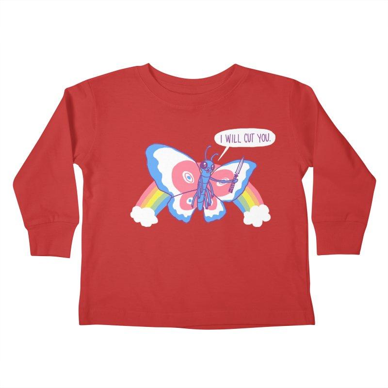 Butterfly Knife Kids Toddler Longsleeve T-Shirt by hillarywhiterabbit's Artist Shop