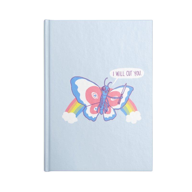 Butterfly Knife Accessories Notebook by hillarywhiterabbit's Artist Shop