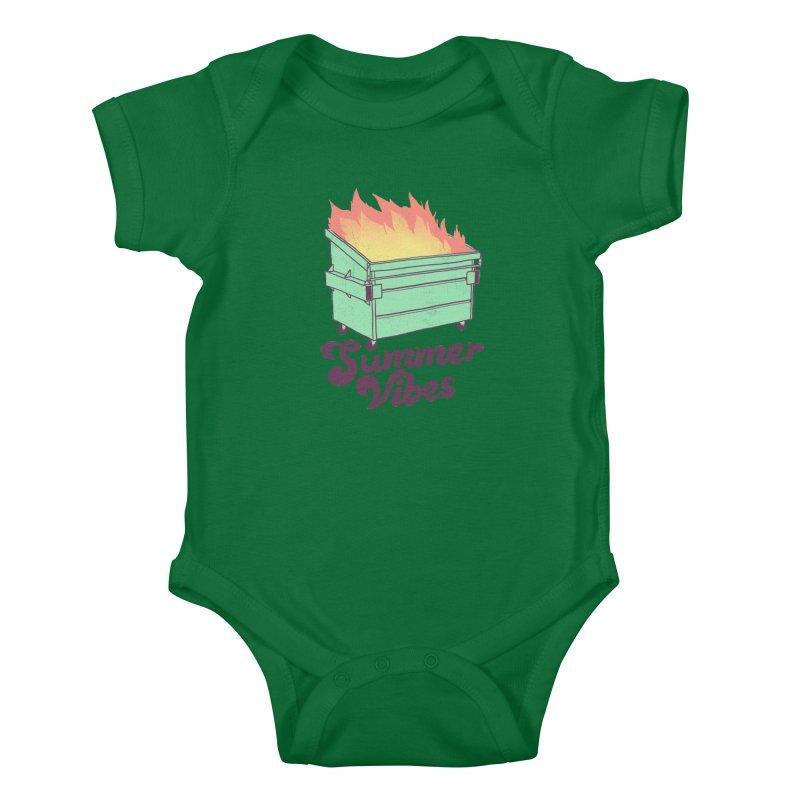 Summer Vibes Kids Baby Bodysuit by hillarywhiterabbit's Artist Shop