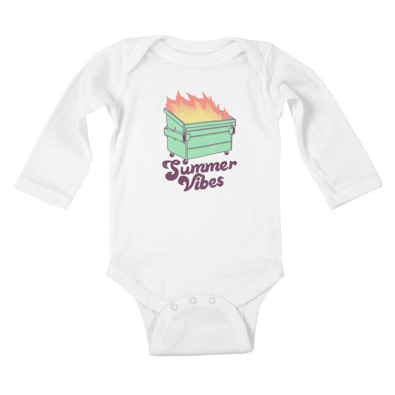 Summer Vibes Kids Baby Longsleeve Bodysuit by hillarywhiterabbit's Artist Shop