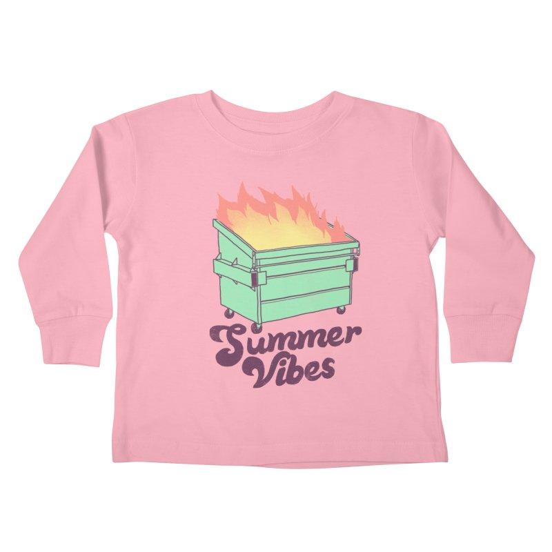 Summer Vibes Kids Toddler Longsleeve T-Shirt by hillarywhiterabbit's Artist Shop