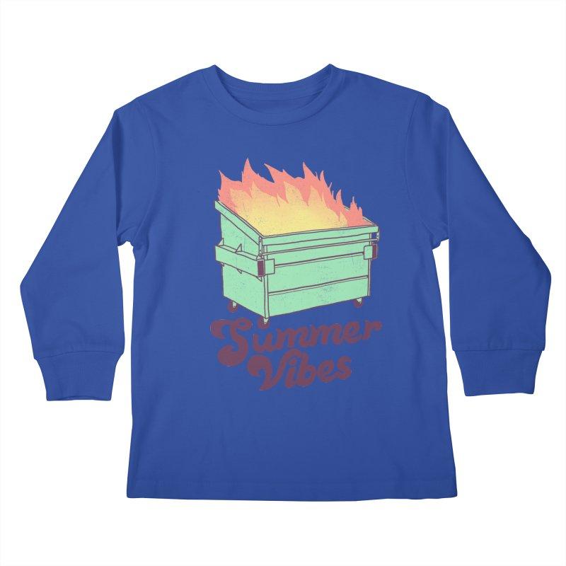 Summer Vibes Kids Longsleeve T-Shirt by hillarywhiterabbit's Artist Shop