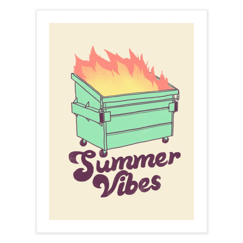 Summer Vibes Home Fine Art Print by Hillary White Rabbit