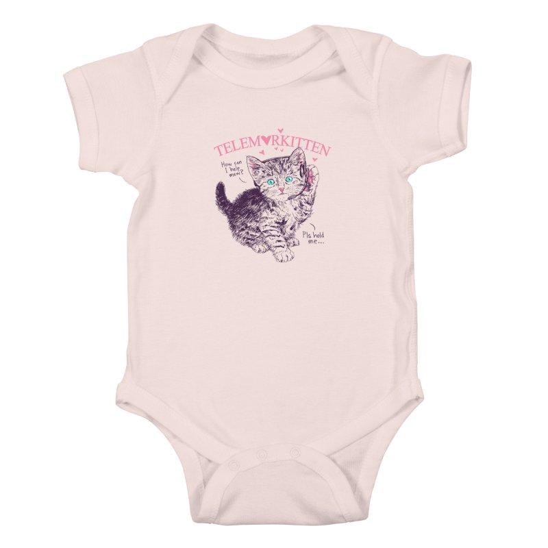 Telemarkitten Kids Baby Bodysuit by hillarywhiterabbit's Artist Shop