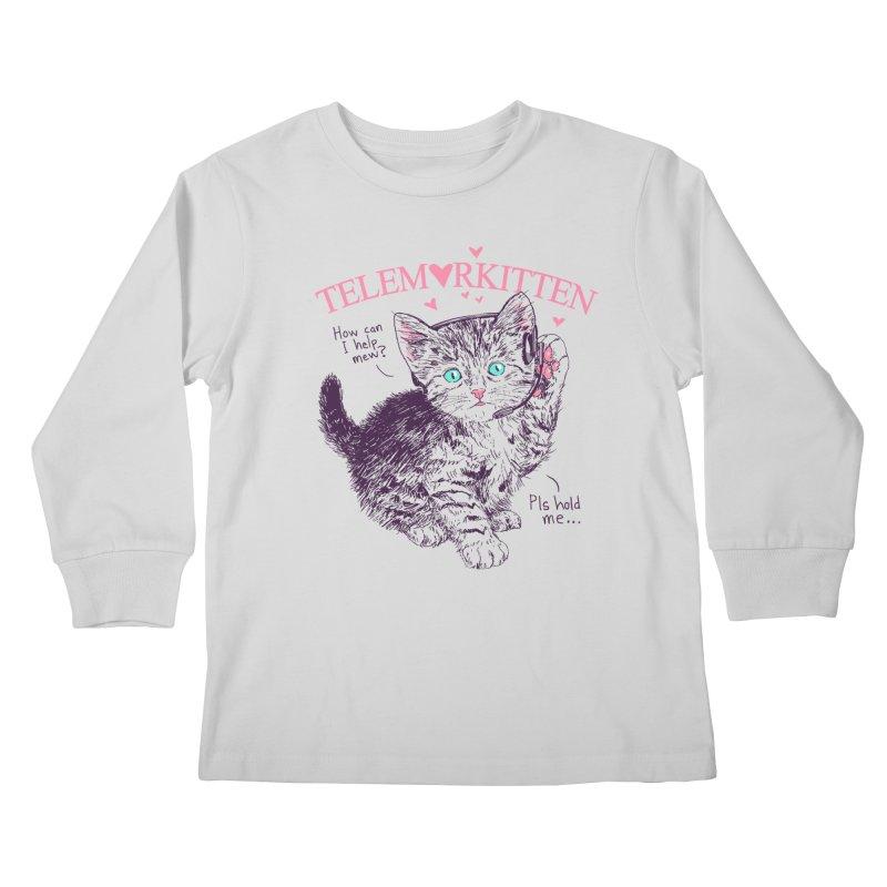 Telemarkitten Kids Longsleeve T-Shirt by hillarywhiterabbit's Artist Shop