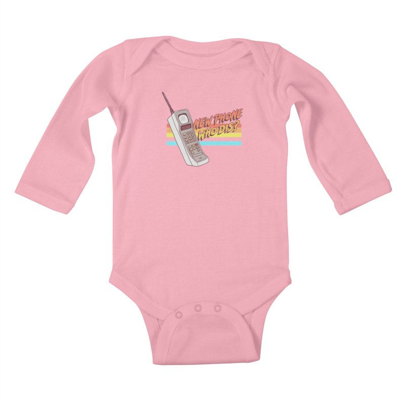 New Phone Kids Baby Longsleeve Bodysuit by hillarywhiterabbit's Artist Shop