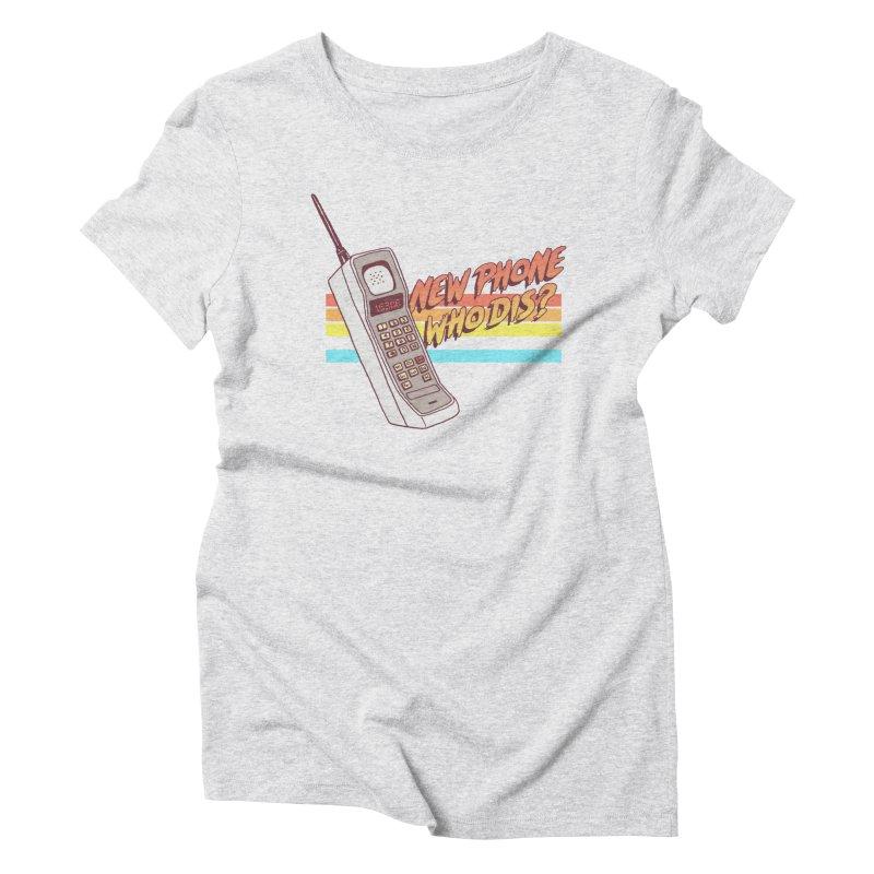 New Phone Women's Triblend T-Shirt by hillarywhiterabbit's Artist Shop