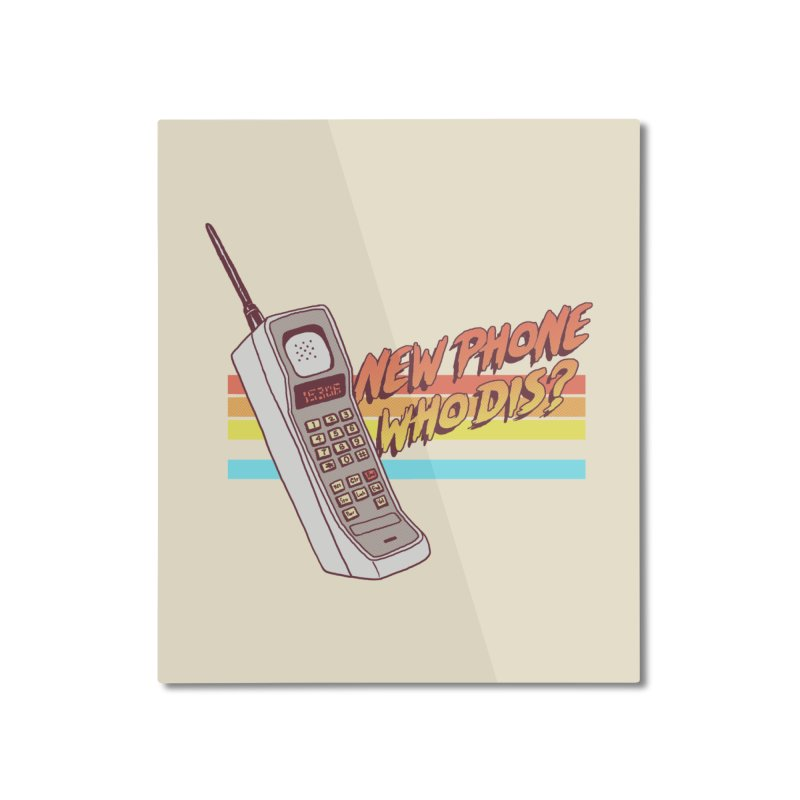 New Phone Home Mounted Aluminum Print by hillarywhiterabbit's Artist Shop