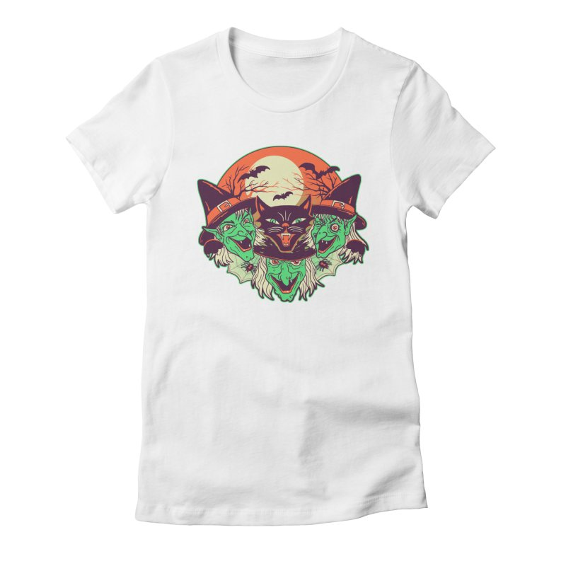 My Witches Women's Fitted T-Shirt by hillarywhiterabbit's Artist Shop